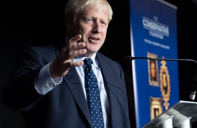 Boris Johnson PM, Association Finance Lunch, Party Conference 2019